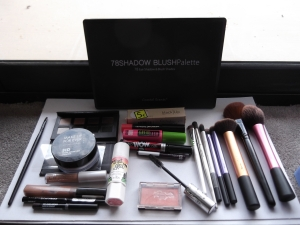 the beauty products & the artists tools!