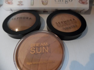 More Base stuff! Sephora Collection MicroSmooth Baked Foundation Face Powder # 56 SEPHORA COLLECTION MicroSmooth Baked Luminizer #2 Maybelline Dream Sun Triple Bronzing Powder